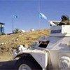Un véhicule blindé de la Force des Nations Unies chargée du maintien de la paix à Chypre.