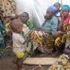 Des femmes et des enfants déplacés dans l'est de la République démocratique du Congo (RDC).