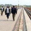 Le Beit Bridge entre le Zimbabwe et l'Afrique du Sud.