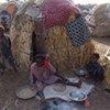 Une famille somalienne à Baidoa.