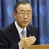Le Secrétaire général de l'ONU Ban Ki-moon. L'ONU est un des membres du Quatuor pour le Moyen-Orient.