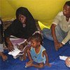 High Commissioner Guterres meets a family that recently arrived in Yemen from Somalia