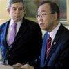 Secretary-General Ban Ki-moon and Prime Minister Gordon Brown at press conference