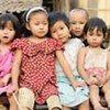Myanmar refugee children in Mae La Camp in Thailand