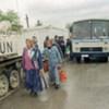 Des soldats britanniques à un point de passage de l'ONU en Bosnie (mai 1994).