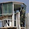 Tour d'observation d'ONU près de la Ligne bleue à la frontière entre le Liban et Israël.