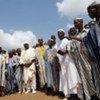 Des chefs traditionnels de Duékoué font la promotion de la paix en Côte d'Ivoire.