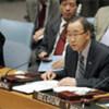 Secretary-General Ban Ki-moon addresses the Security Council