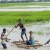 Des inondations en Inde et au Népal ont entraîné le débordement de la rivière Kosi. (septembre 2008)