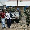 MONUSCO peacekeepers on patrol in the DRC