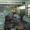 Un magasin pillé à Tkviavi (Géorgie), un des quatre villages de la zone tampon visités par le HCR.