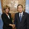 UN Legal Counsel Patricia O'Brien with Secretary-General Ban Ki-moon