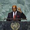 Le Président du Sénégal Abdoulaye Wade.