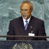 Deputy Prime Minister Puka Temu of the Independent State of Papua New Guinea