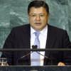 Foreign Minister Marat Tazhin of Kazakhstan