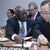 Secretary-General Ban Ki-moon and Special Adviser Ibrahim Gambari