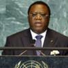 Youssouf Bakayoko, ministre des Affaires étrangères de Côte d'Ivoire, devant l'Assemblée générale de l'ONU.