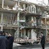 Un bâtiment endommagé par l'attentat le 11 décembre 2007 contre l'ONU à Alger.