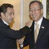 Secretary-General Ban Ki-moon and French President Nicolas Sarkozy