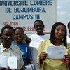 Wanafunzi wa mjini Bujumbura