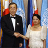 Secretary General Ban Ki-Moon meets with President Arroyo of the Philippines