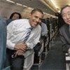 Secretary-General Ban Ki-moon with US Senator Barack Obama in February 2007