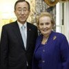 Secretary-General Ban Ki-moon meets today with Madeleine Albright, former United States Secretary of State, ahead of G-20 meeting