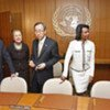 Secretary-General Ban Ki-moon (third from right) meets with members of the Middle East Quartet (file photo)