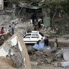 A section of Gaza damaged by aerial bombardment