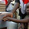 Une fillette dans un centre de santé à Bossangoa, en République centrafricaine.