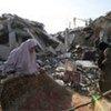 Scene of destruction at Rafah in the southern Gaza Strip