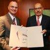 US Ambassador Gregory Schulte (left) and IAEA Director General Mohamed ElBaradei