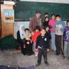 Gazan refugees taking shelter in an UNRWA classroom