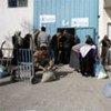Gaza City - WFP food distribution