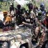 Un groupe d'hommes armés au Darfour.