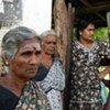 Lors de la guerre civile au Sri Lanka, des civils déplacés dans un centre d'accueil à Vavuniya.