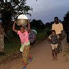 Internally displaced Congolese on the move in North Kivu province after an FDLR attack