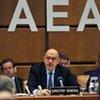 Le directeur général sortant de l'AIEA Mohamed ElBaradei.