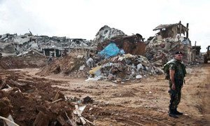 Le camp de Nahr El Bared a été détruit par les combats intenses entre l'armée libanaise et le Fatah el-Islam.