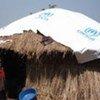 A returnee's hut in Uganda