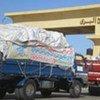 Humanitarian aid for Gaza at the Rafah border gate