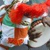 Joueur de tambour lors d'une cérémonie pour la Journée internationale contre l'esclavage.