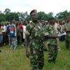 Des officiers dans un centre de démobilisation au Burundi.