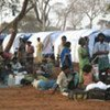 Displaced Sri Lankan civilians at a special site near the town of Vavuniya