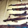 Small arms at a disarmament collection point in Akobo, Sudan