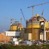 Pressurized Water Reactors (PWRs) under construction at a nuclear power plant