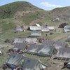 Des tentes du HCR utilisées par des déplacés dans le nord-est de l'Iraq.