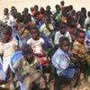 Elèves soudanais étudiant sous un arbre au Sud-Soudan.