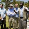 ECOSOC delegation members in Gonaïves, Haiti