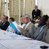 Des membres d'une délégation du Conseil de sécurité en visite en République démocratique du Congo.